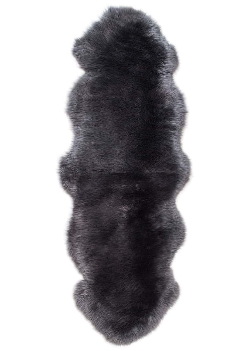 Doppel-Lammfell, Dunkelgrau