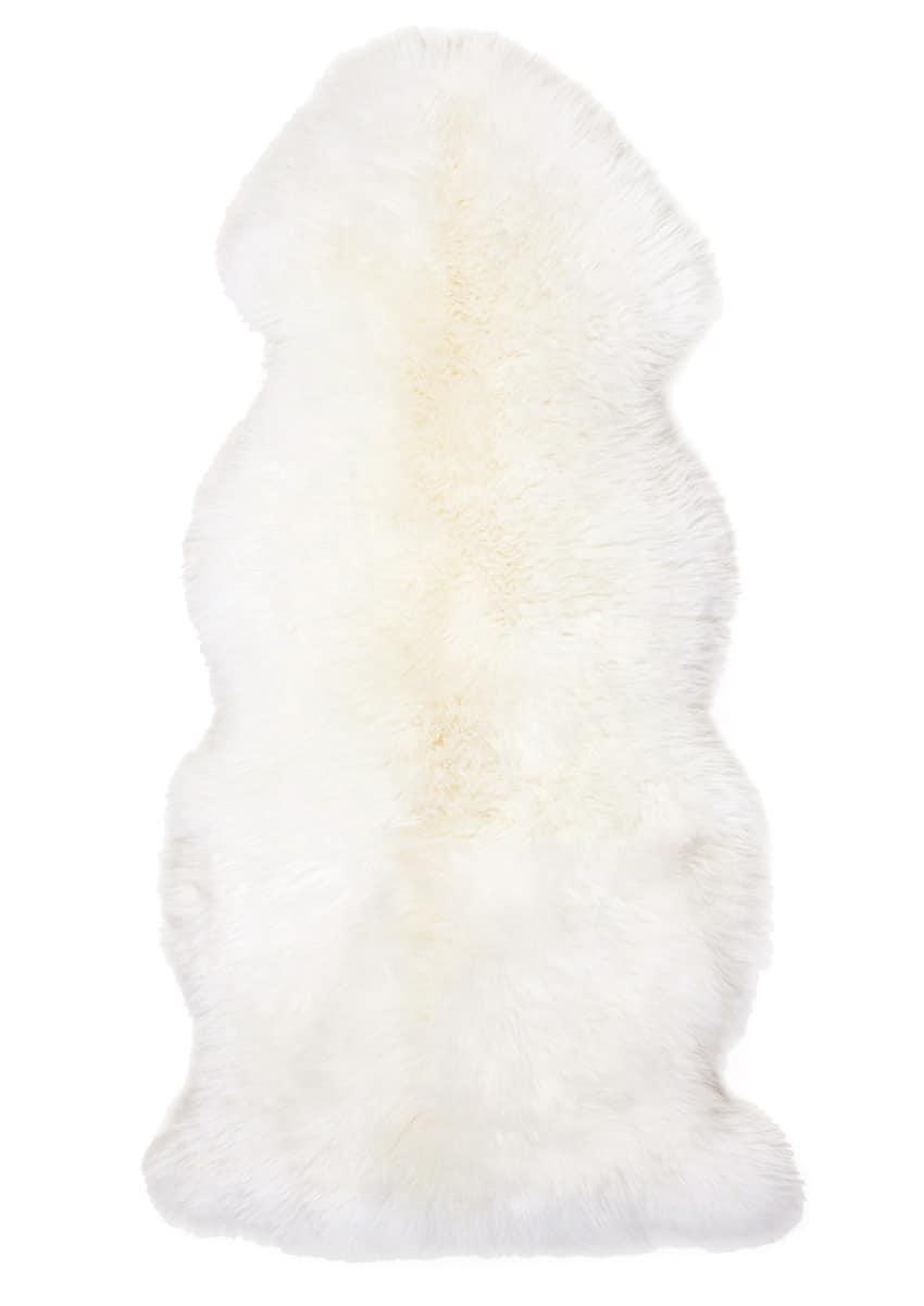 Lammfell 1.5 fach, Wollweiß
