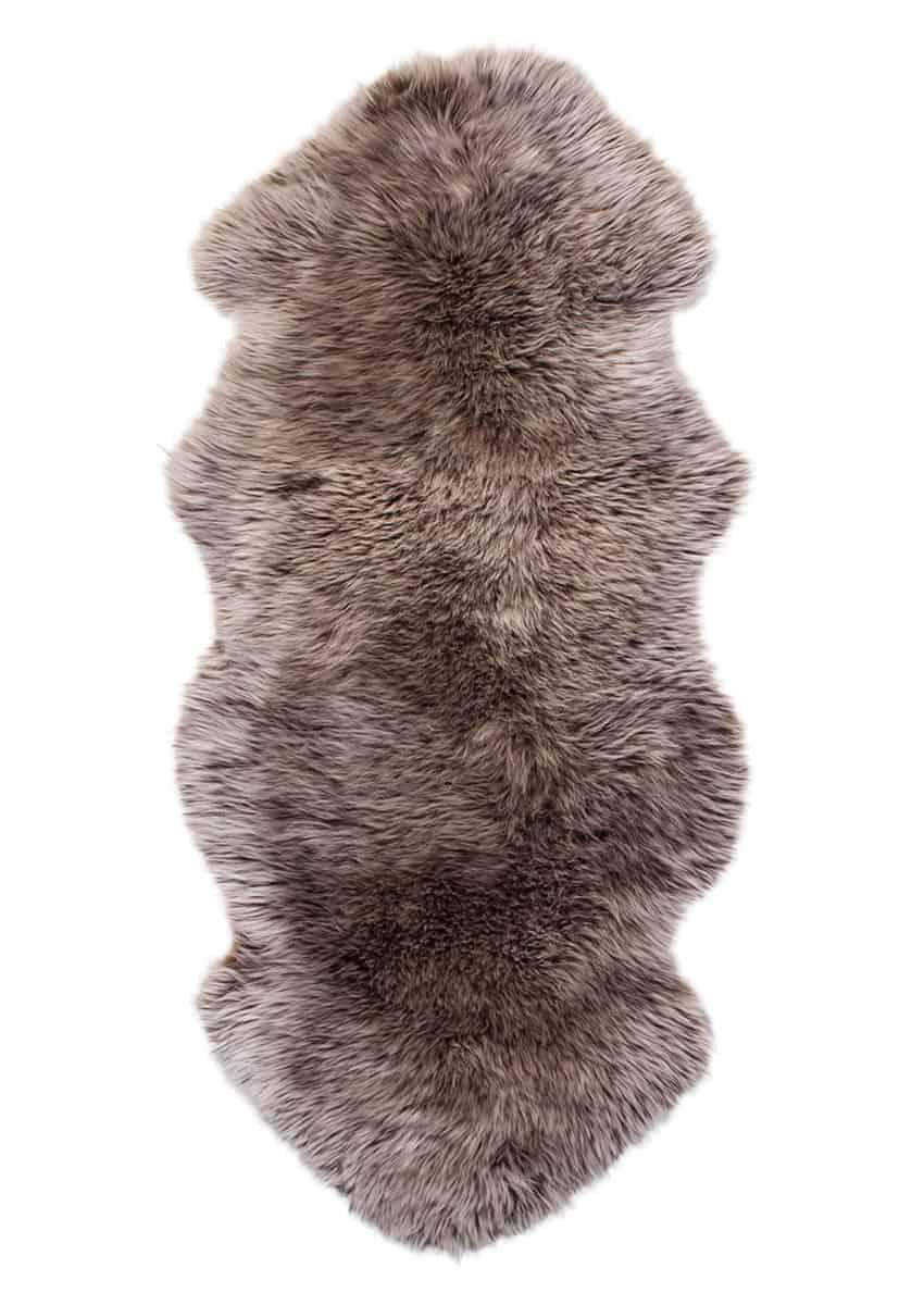 Lammfell 1.5 fach, Kopf-Kopf, Nutria