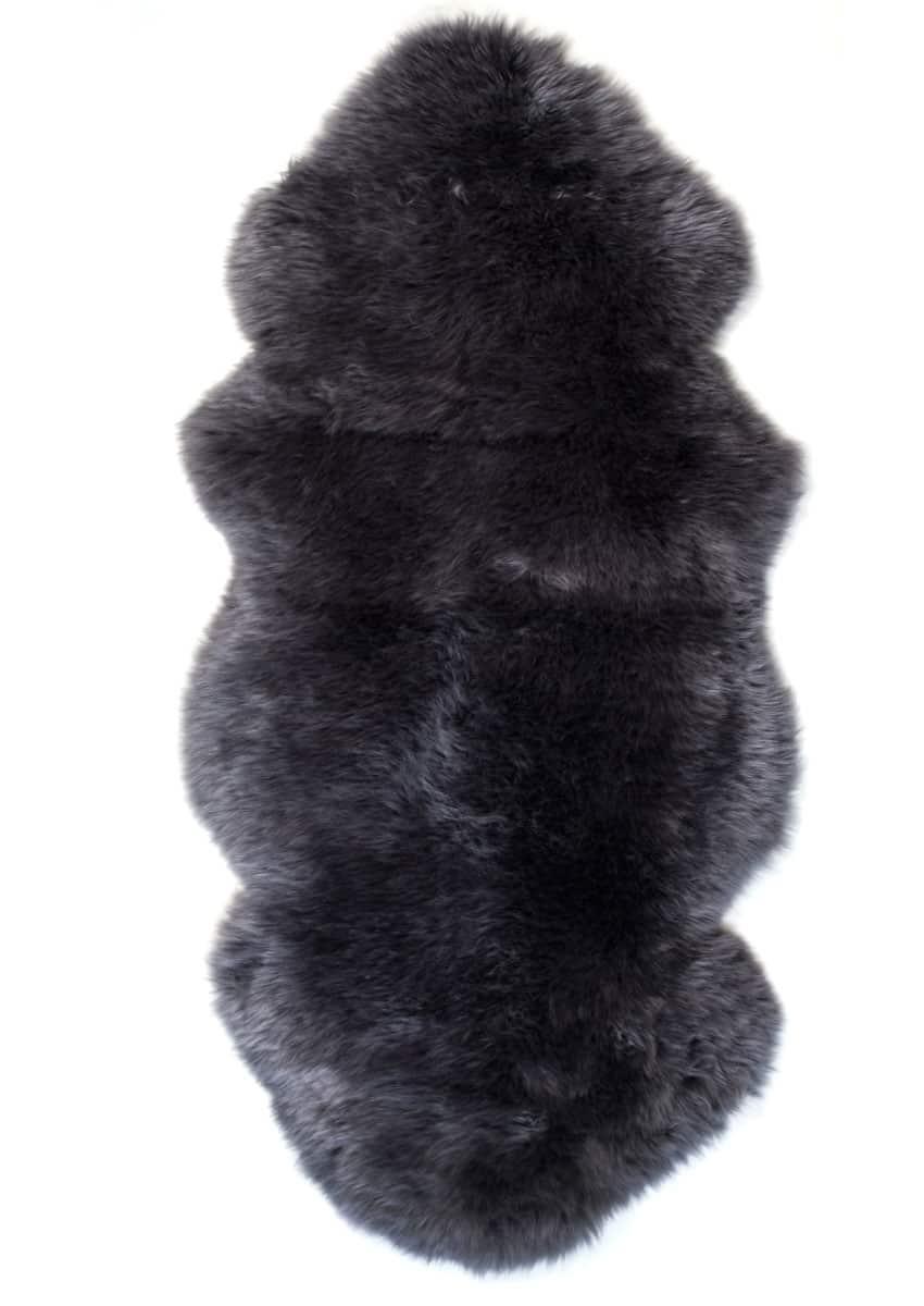 Lammfell 1.5 fach, Kopf-Kopf, Dunkelgrau