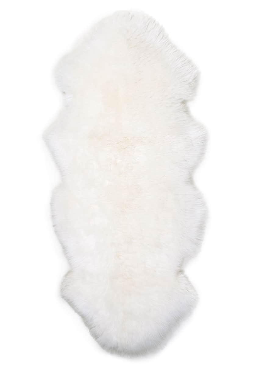 Lammfell 1.5 fach, Kopf-Kopf, Wollweiss, Sonderangebot