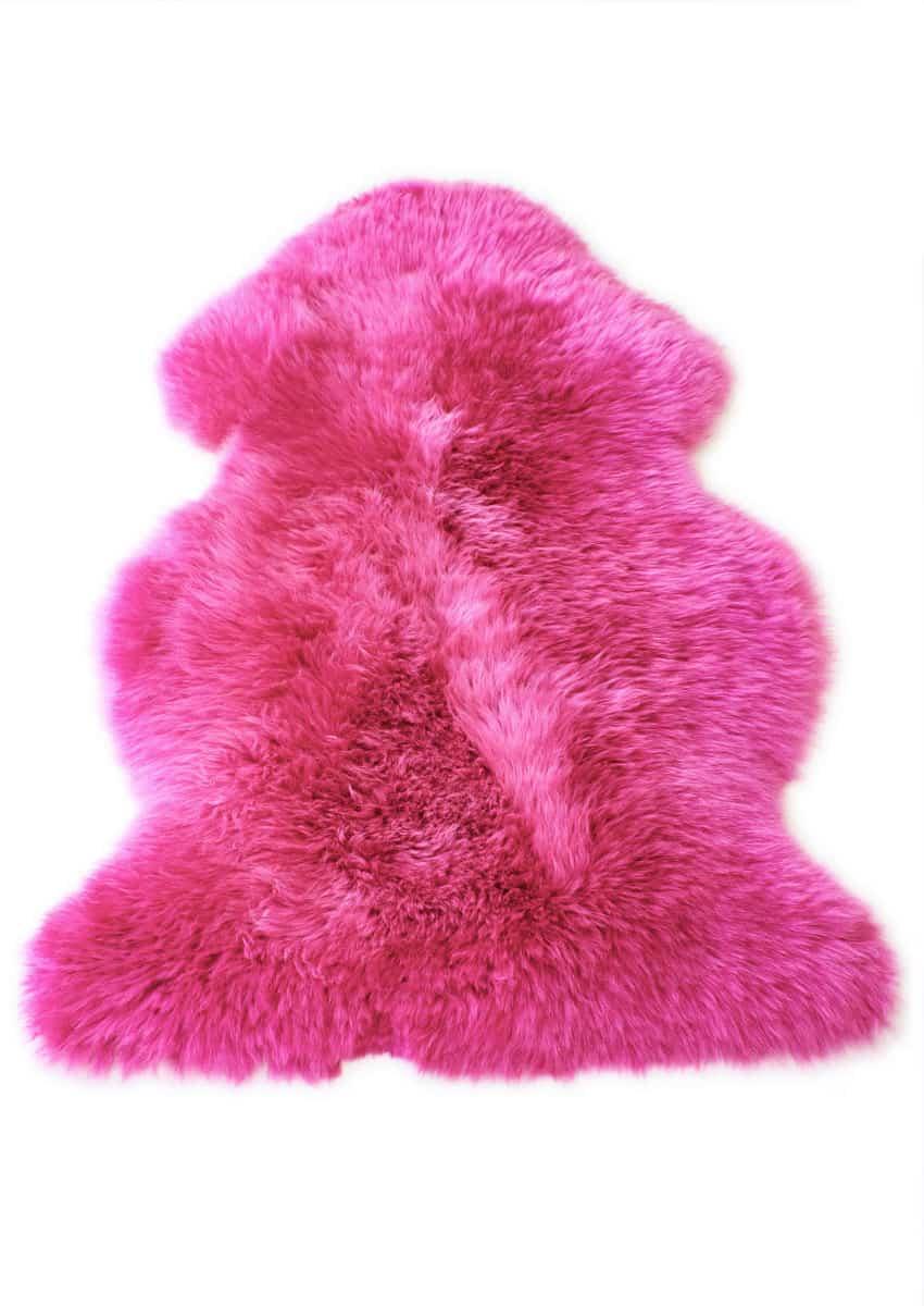 Lammfell bunt, Pink