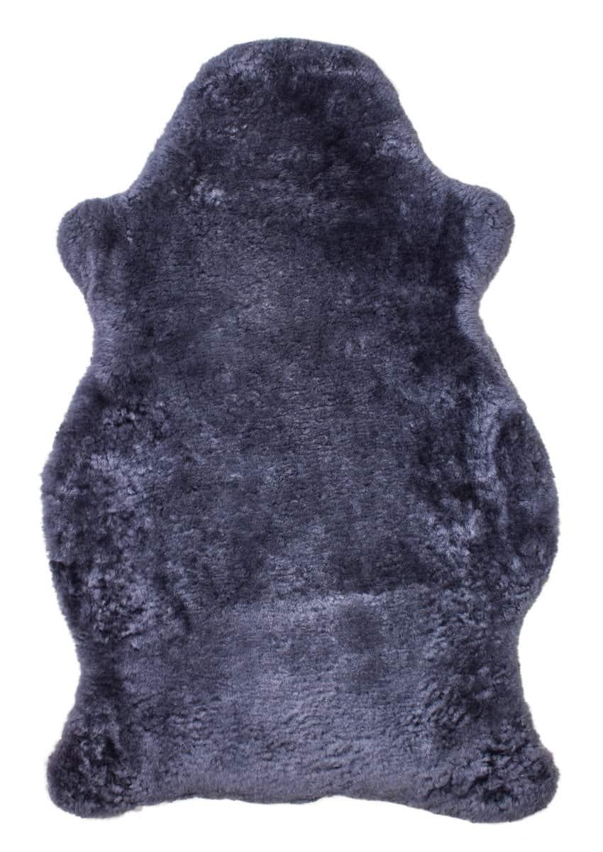 Lammfell kurzwollig, silber-saphir