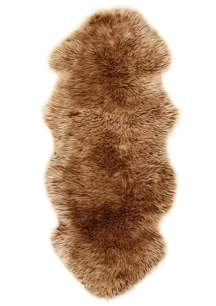 Lammfell 1.5 fach, Kopf-Kopf, Camel, Sonderangebot